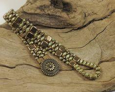 SUPERDUO CZECHMATE TILE Bracelet Ultra by CinfulBeadCreations