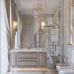 Bathroom Design Luxury, Modern Bathroom Decor, Modern Bathroom Design, Luxury Interior Design, Boho Bathroom, Industrial Bathroom, Bathroom Layout, Bathroom Designs, Bathroom Lighting