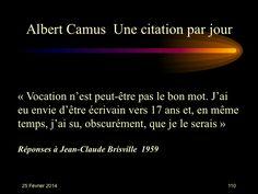 Albert Camus (1913-1960) n° 110
