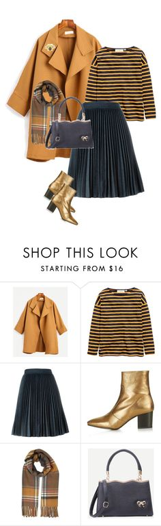 """""""Golden Days"""" by style-stories ❤ liked on Polyvore featuring H&M, MSGM, Topshop and Miss Selfridge"""
