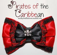 Mickey Waffles Bows - Pirates of the Caribbean - Buy Here! [[MORE]] Pirates of the Caribbean - $10. Medium bow (4 inches) comes with attache...