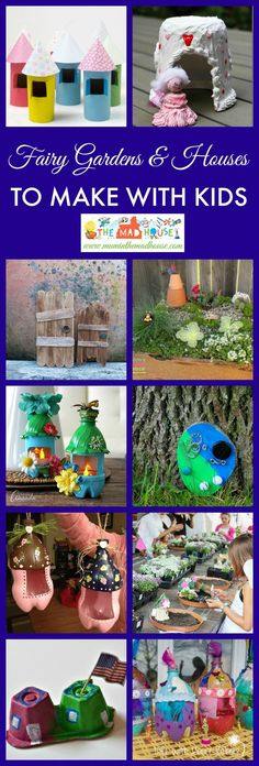 Keep the magic alive with these fab fairy crafts to make with kids.  A super selection of fairy gardens and fairy houses for all the family to enjoy.