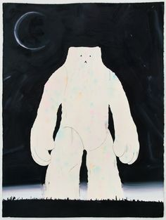 © Phil Ashcroft, Yeti (Eclipse), 2012. One of a series of ten original paintings on paper, 270gsm acid-free deckled-edge watercolour paper, 56 x 76cm (Photo: Joe Plommer)