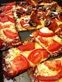 Low Carb Gluten Free Pizza. Perfect on an Absolutely Gluten Free Flatbread! Make it Gluten Free and Visit www.Absolutelygf.com #Glutenfree