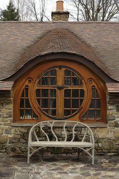 Une maison de hobbit en Pennsylvanie...   Architecte : Peter Archer