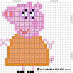 Peppa Pig Mummy Pig hama beads pattern