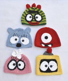 Gorro monstros! crochet monster beanie hats