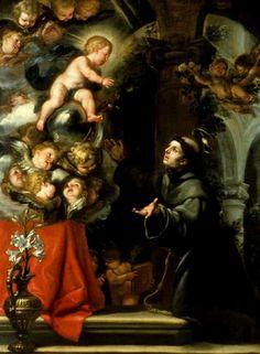 Claudio Coello - La visión de san Antonio de Padua, óleo sobre lienzo, 218 x 192, Norfolk, Virginia, Chrysler Museum, 1663