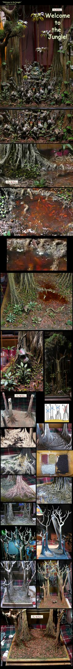 Exhibition of dioramas painted by other artists from around the world.