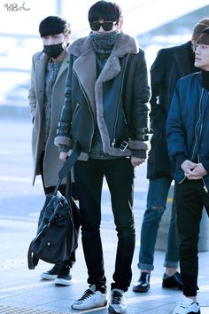 141202- EXO Park Chanyeol; Incheon Airport to Hongkong Airport #exok #fashion