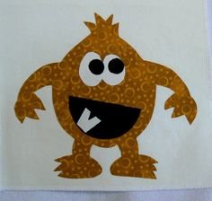 Monster Applique  The Gold Monster Applique is by MontanaTwirls, $6.00