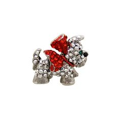 Small Crystal Westie Dog Pin