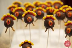 Thanksgiving cake balls    http://doubleknotphotography.com/blog/thanksgiving-cake-pops-micah/