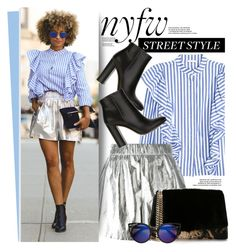 """NYFW Street Style: Day Two"" by oshint ❤ liked on Polyvore featuring M Missoni, Sergio Rossi, Gianvito Rossi, StreetStyle and NYFW"