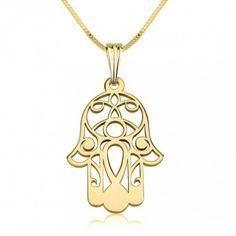 Collar Hamsa en Oro de 14K