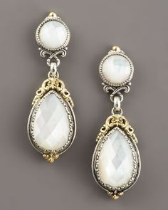 Mother-of-Pearl Dangle Earrings by Konstantino at Neiman Marcus.