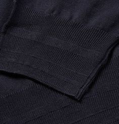 Brioni Long-Sleeved Wool Polo Shirt