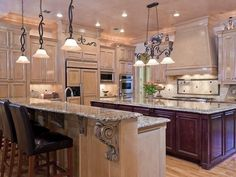 A salad sink (with disposer) in a large island makes a big kitchen much more efficient.