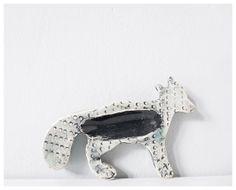 Fox modern ceramic handmade pottery - mint pale aqua black dots ring holder jewelry tray on Etsy, $24.00