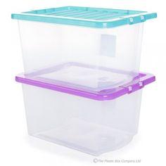 30lt Uni Plastic Storage Box & Lid (Pack of 5)