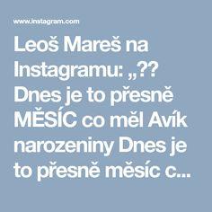 """Leoš Mareš na Instagramu: """"❤️ Dnes je to přesně MĚSÍC co měl Avík narozeniny Dnes je to přesně měsíc co vzniknul SLIB Dnes """"Slib"""" dosáhnul na YouTube 1 000 000…"""""""