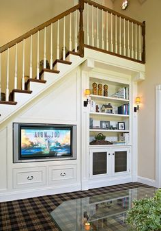 under stairs with entertainment ideas