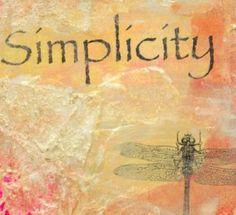 SIMPLICITY .... Original by Kathy Morton Stanion  KathyMortonStanion.etsy.com
