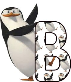 Alfabeto de los pingüinos de Madagascar. | Oh my Alfabetos!