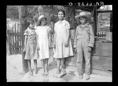 """""""Griffin children"""" of west Alabama land use demonstration project near Greensboro, Alabama. 1936. Library of Congress."""