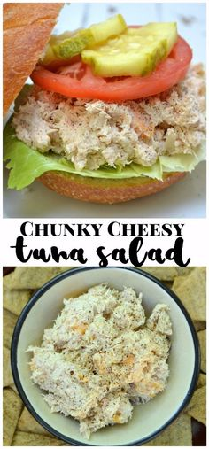 Chunky Cheddar Cheese Tuna Salad | Makes a great sandwich or dip | #HeluvaGoodSummer #IC #Ad | www.craftycookingmama.com | @heluvagood! Tuna Salad, Egg Salad, Husband Lunch, Healthy Recipes, Yummy Recipes, Recipies, How To Make Salad, Cheddar Cheese, Quick Easy Meals