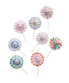 Mini Pinwheel Toppers
