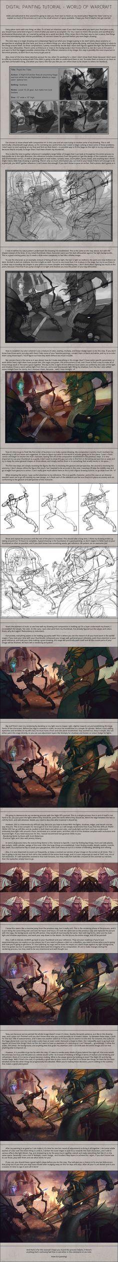 Digital Painting Tutorial - World of Warcraft by Andantonius.deviantart.com on @deviantART