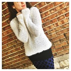 I know YOU want to touch this #sweater right through the screen!! YES it is as #soft as it looks!! The texture is your #fashionstatement  by ootragirl