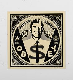 This screen print by Shepard Fairey (Obey) is an edition of Made in it is signed and numbered by the artist. Format : 12 x 12 inches x cm). The work is sold unframed. Shepard Fairey Art, Obey Art, Street Art, 35th Anniversary, Political Art, Tentacle, Jelly Beans, Shades Of Black, Fine Art Paper