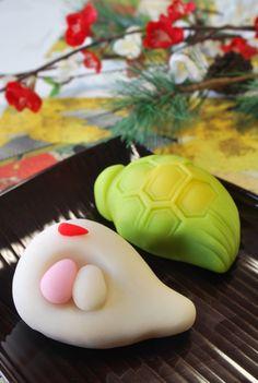 慶祝和菓子「鶴亀」turukame#和菓子#wagashi#Japanese Sweets