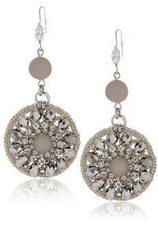 Love these grey crystal earrings