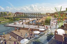 GO WITH THE FLOW SWA Group plans redevelopment of Fort Wayne, Indiana's downtown riverfronts.