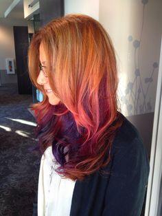 Hair peachy pink... Accidental perfection. #pink #hair pastel hair ...