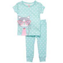 2-piece kitty pajamas