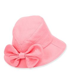 Take a look at this Pink Bow Bucket Hat on zulily today!