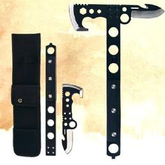 Multi-functional Outdoor Survival Camping Hatchet Axe Knife Wrench Screw Driver
