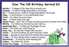 Awesome Humorous Over The Hill Birthday Survival Kit In A Can Novelty Fun Gift