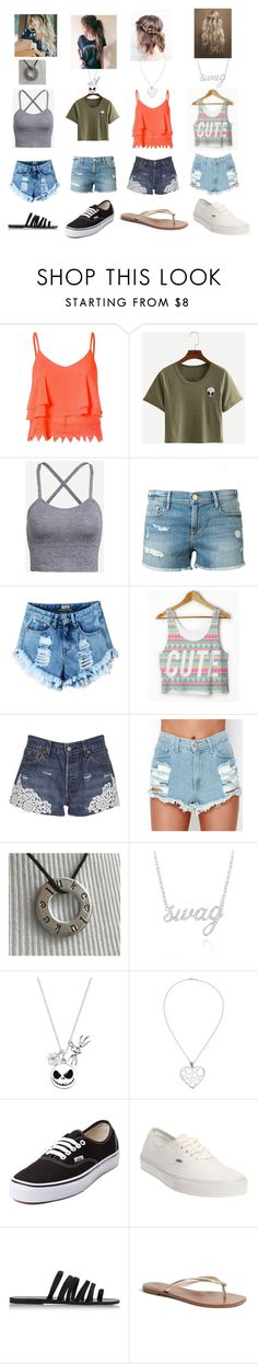 """""""Untitled #275"""" by mynameisblrryface ❤ liked on Polyvore featuring Glamorous, Frame Denim, Forte Couture, Belk & Co., Disney, Andea, Vans, Ancient Greek Sandals and Tory Burch"""