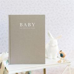 Baby Keepsake Record Book A contemporary baby keepsake record book packed with heart warming features   $39.95 #sweetelephants #baby #babyrecords