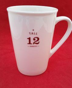 Starbucks 2012 coffee company EST 1971 white with brown text tall 12 Oz. MUG #STARBUCKS2012TALL