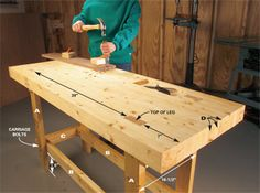 how to build a workbench on a budget..all with 2/4's!