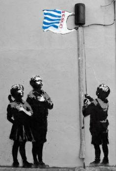 Banksy - Essex Road Art Print