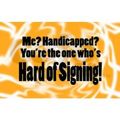 HARD OF SIGNING - Oval Decal on CafePress.com
