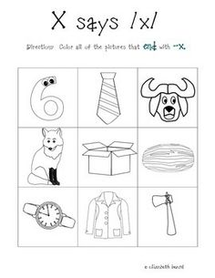 Worksheets X Pictures For Kindergarten letter x worksheets pinterest preschool activities teacherspayteachers com
