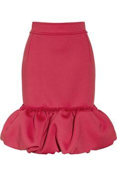 Lanvin|Piqué scuba-jersey skirt|NET-A-PORTER.COM